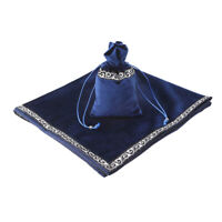 Blue Classic Sparkle Pattern Tarot Cards Bag Border Velvet Table Cloth