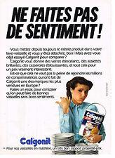 PUBLICITE ADVERTISING 064  1980  CALGONIT entretien lave vaissele & lave linge