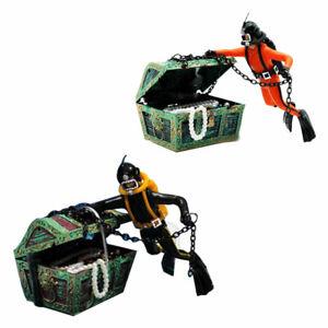 Treasure Hunter Diver Figure Fish Tank Ornament Aquarium Decoration Accessories