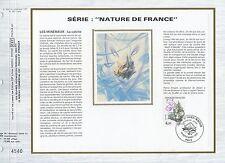 FEUILLET CEF / DOCUMENT PHILATELIQUE / NATURE DE FRANCE CALCITE 1986 PARIS