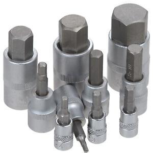 Una llave de vaso allen 3 - 24 mm en la medida elegida 1/4 3/8 1/2 - Bgs technic
