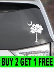 Palmetto Tree Decal Car Window South Carolina Palm Beach Moon SC Sticker ANYSIZE
