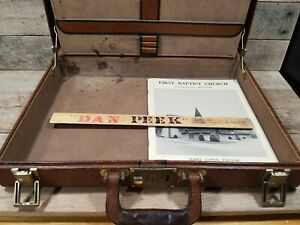 Dan Peek of America Personal Artifacts Ruler Brief Case & Unseen Photo