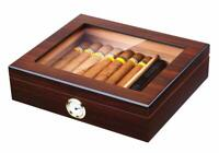 Handmade Cigar Humidor, Cedar Cigar Desktop Box with Humidifier. 20-25 Cigars...
