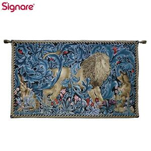 Tapestry Wall Hanging William Morris Lion and Forest