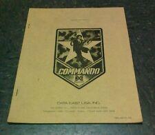 Data East Commando Arcade Video Game Manual - good used original