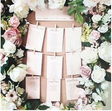 seating plan cards blush white gold foil rose gold foil per card