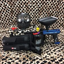 NEW Kingman Spyder Victor EPIC Paintball Marker Gun Package Kit - Gloss Blue
