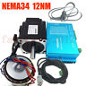 12NM DSP Close Loop Stepper Motor Nema34 Drive/Power Supply/PC Cable 1714oz-in