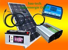 130 Watt Camping Solaranlage, 12 Volt SET wählbar Spannungswandler / Batterie