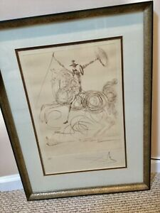 SALVIDOR DALI DON QUIXOTE S/N PE ETCHING # 74/125 ON RIVES PAPER FRMD