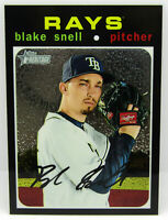Topps 2020 Heritage Black Chrome Refractor Blake Snell Tampa Bay Rays 587/999