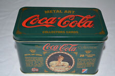 Coca Cola Metal Art Card Collection trading cards 1994 Sealed