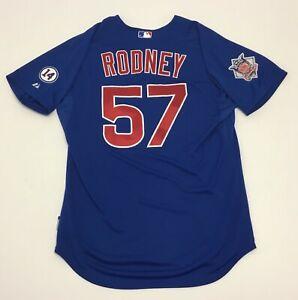 Fernando Rodney 2015 Team Issued Chicago Cubs Game Jersey MLB Hologram Patch