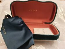 NEW GUCCI GREEN VELVET HARD LARGE CASE SUNGLASSES/ CLEANING CLOTH