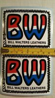 2 Vintage BMX sticker decals old school Bill Walters Leathers set of 2 Fox JT