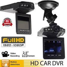 "1080P HD 2.5"" Car DVR Camera Vehicle Dashboard Cam Recorder IR CCTV Night Vision"