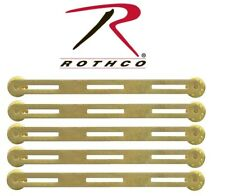 YOU GET (5) Military Issue Brass Triple Ribbon Mount Rothco 71003