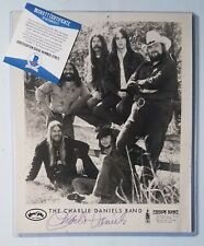 CHARLIE DANIELS VINTAGE SIGNED BECKETT BAS CERTIFIED AUTOGRAPH COUNTRY BAND COA