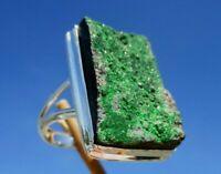 Uwarowit - Ring Gr. 18,25 -  Silber 925 !