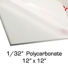 PAK OF 2 Polycarbonate Clear Sheets 3//8 24/'/'x72/'/'x10 mm