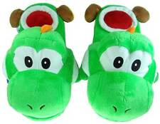 "Nintendo Super Mario Brothers Bros Green Yoshi Adult 11"" Soft Plush Slipper"