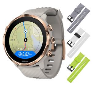 SUUNTO 7 GPS Smartwatch Sandstone/Rose Gold with 3x Straps Gray+White/Black+Lime