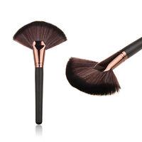 Profi Large Fan Makeup Blush Brush Face Powder Cheek Highlighter Bronzer