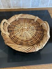 Vintage Wicker Display Bowl Fruit Basket Dish