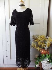 STUNNING SEQUINNED & BEADED COCKTAIL FORMAL LONG MIDI GATSBY DECO DRESS 14, 16