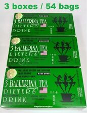 3 Boxes Ballerina Tea Herbal Drink Slim Green Extra Strength weight loss detox