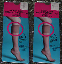 2 x PAIRS of VINTAGE 70s SUNTAN KNEE HIs QUEEN SIZE 9.5-12 150-250lbs DEADSTOCK