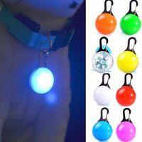 Pet Puppy Cat LED Flashing Collar Pendant Neck Dog Tag Night Light Safety Decor