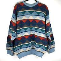 Vintage COOGI Australia Sweater XL Textured Wool Cosby Biggie Hip-Hop Retro 90s