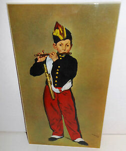 MILITARY PRINT, ACW, Manet, The Piper, Laminated on Board, A Classic Image