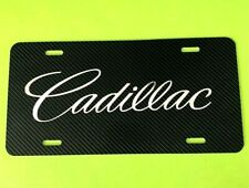 Cadillac License Plate Carbon Fiber Chrome Logo New Escalade SRX CTS ATS DTS STS