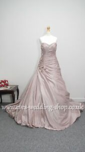 Veromia rum pink wedding dress style VR61008 UK size 12 - check measurements