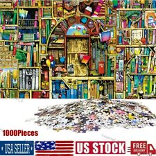 1000 Pieces Jigsaw Puzzles Old Bookshelf Adult Kid Educational Game Toy Us Stock