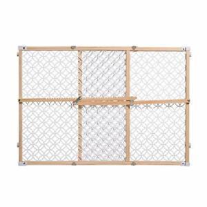 Summer Secure Pressure Mount Wood & Plastic Baby Gate Natural Hardwood NEW W/Tag