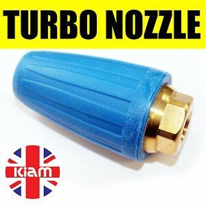 "Turbo Nozzle 4000PSI 276Bar Pressure Washer Dirt Blaster Rotating Jet 1/4"" Inlet"