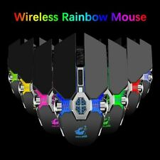 UK 2.4GHz Rechargeable Gaming Mouse 2400 DPI USB Wireless Game Mice For PC Black