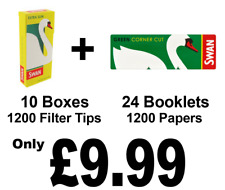 1200 Swan Green Cigarette Rolling Papers and 1200 Swan Extra Slim Filter Tips