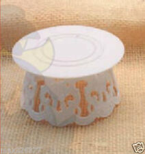 "new Plastic Cake Top Base stand 4.5"" x 2.5"" tall accessory decorating 8 pieces"