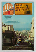 1972 Dick Pulvers SAN FRANCISCO GUIDE Vintage Tourist Booklet Map Cannery Dining