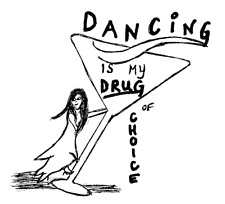 DANCE Dancing is My Drug of Choice GIFT MAGNET Refrigerator FREE FAST SHIPPING