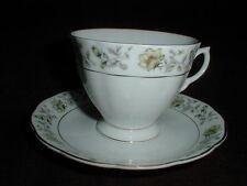 Bone China Nanjing Pagoda Mark Chinese Porcelain #CX536 Floral Cup Saucer