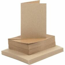 A6 Kraft Cards and Envelopes Blanks for Card Making 240gsm Choose Pack Size