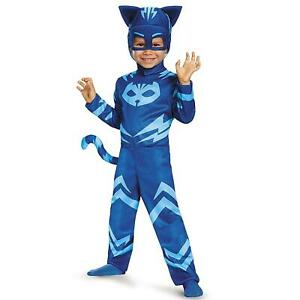 PJ Masks Catboy size S 2T Toddler Costume Tail Headpiece Outift Disguise