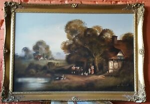 John Horsewell, Large original oil on Canvas painting