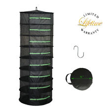 Herb Drying Racks Hanging Dryer 8 Tier 2ft w/Zipper Black For Buds Flower Herbs
